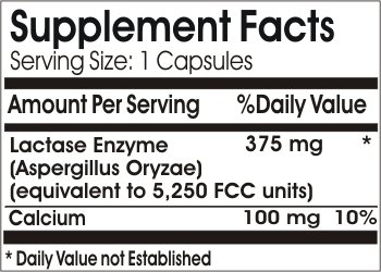 Lactase Enzyme Max ~ 100 Capsules - No Additives ~ Naturetition Supplements