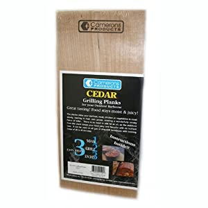Camerons Products Grilling Planks - Alder - Premium Thicker Alder for Barbecue Salmon, Seafood, Steak, Burgers, Pork Chops, Vegetables and More from Camerons