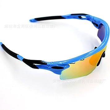 Wfkjj Montar Gafas polarizadas, Gafas de Sol para Deportes al Aire Libre para Hombres y Mujeres, Accesorios Azul y Negro Brillante: Amazon.es: Deportes y ...