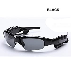 DOLIROX Wireless Bluetooth 4.1 Riding Sunglasses Music Sun Glasses Hands Free Phone Call Answering Stereo Headset for Cell Phone Mobile Phone- With Day and Night Use Polarized Lens Included (Black)