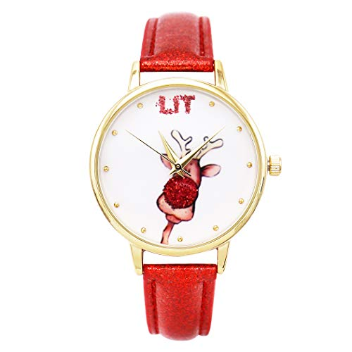 Rosemarie Collections Women's Red Nose Reindeer Holiday Christmas Watch