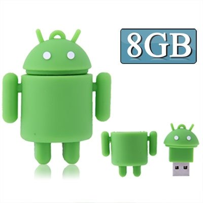 CAOMING 8GB Android Robot Style USB Flash Disk (Green) by CAOMING