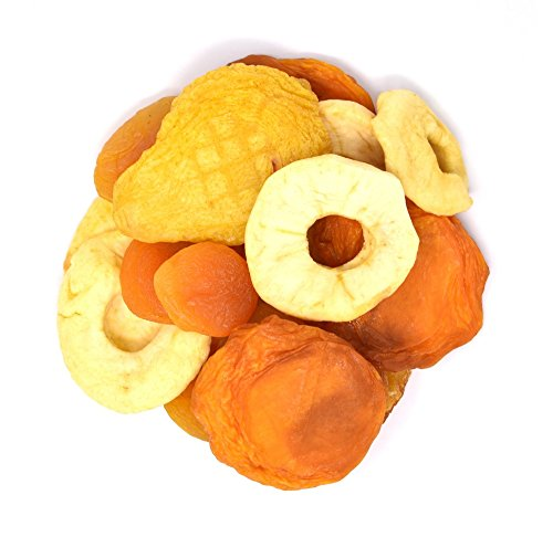 gar Added Dried Fruit Mix - Apricot - Pears - Peaches - Apples in Resealable Bag, 2 Lbs ()