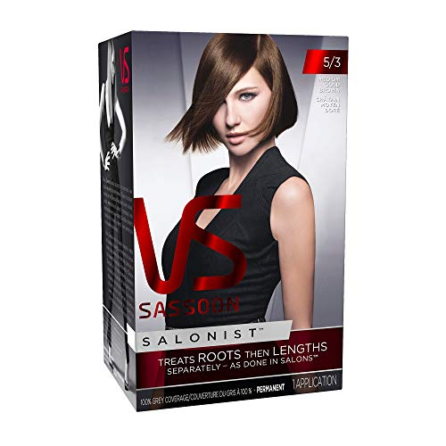 Vidal Sassoon  Salonist Hair Colour Permanent Color Kit, 5/3 Medium Gold Brown,1 Count (Pack of 2) (PACKAGING MAY VARY)