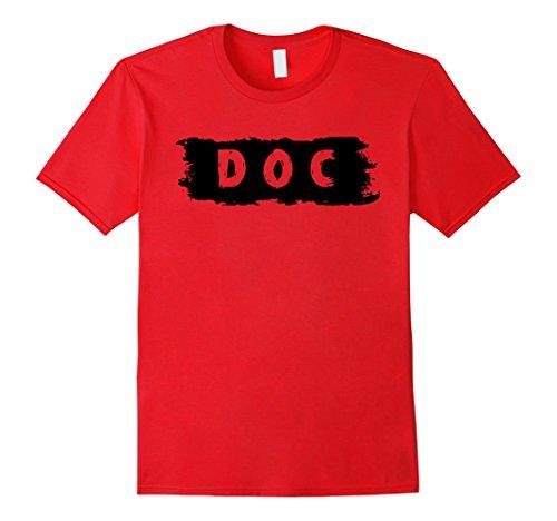 Doc Seven Dwarf Costume (Mens Doc Dwarf Costume 7 Fairy Tale Dwarfs T-Shirt XL Red)