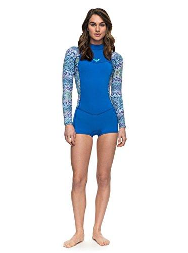 (Roxy Womens 2/2Mm Syncro Series - Long Sleeve Back Zip Flt Springsuit - Women Sea Blue Ii 10)