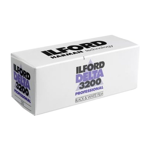 - Ilford DELTA 3200 Professional, Black and White Print Film, 120 (6 cm), ISO 3200 (1921535)