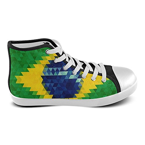 Canvas D Sneaker Brazil Shoes Story Mens High Top Flag Custom w07OxwqC