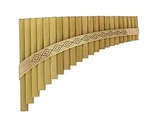 GEWA 700324 - Flauta de pan de 22 tubos (Sol M)