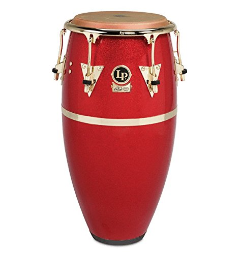 LP Galaxy Fiberglass Fausto Cuevas III Signature Conga, Arena Red with Gold Hardware 11.75 in.