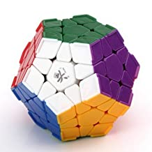 Dayan B00DZJEX740808 Dodecahedron Stickerless Brain Teaser Speed Megaminx Cube Puzzle White