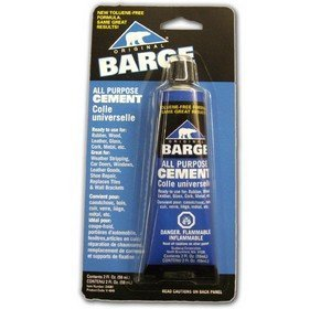 - Barge All-Purpose TF Cement Rubber, Leather, Wood, Glass, Metal Glue 2 oz