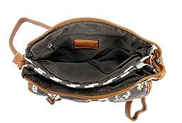 Scarleton Floral & Stripe Crossbody Bag H180807 - Blue