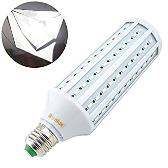 Light Bulb Screw Base: Bonlux 40W LED Studio Light Bulb Medium Screw Base 5500k Daylight Balanced  Full Spectrum Bulb for,Lighting