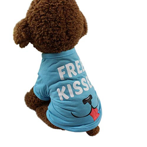 (Hpapadks Pet Dog Polyester T-Shirt,Dog Clothing T Shirt Puppy Costume for Small Dog,Pet Clothes for Small)