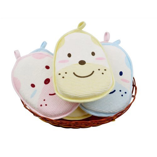 AUCH Newborn /Natural Breathe Freely /Soft Baby Bath Sponge/ Cartoon Great Soft Cotton Brush/ Rubbing Towel/ Ball /Baby Bath Foam Rub Shower Sponge,Random Color