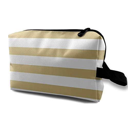 Makeup Bag Gold Stripes Handy Travel Multifunction Clutch Pouch Bags Amazing Organizer For -