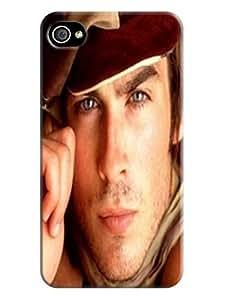 custom lightweight waterproof Cool Ian Somerhalder PC phone case cover for iphone 4/4s with fashionable designed WANGJING JINDA