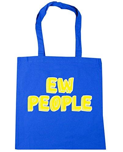 HippoWarehouse personas EW TOTE compras bolsa de playa 42cm x38cm, 10litros Azul Aciano