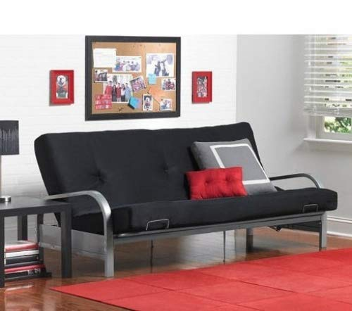 Sofas-Bedroom Furniture-Premium Full Size Metal Arm Frame With Black Mattress-Couches And Sofas-Bring Contemporary Style And Functionality To Any (Bedroom Full Size Sofa)