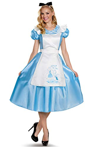 Disguise Costumes Classic Alice Deluxe Costume (Adult), Large (12-14) -