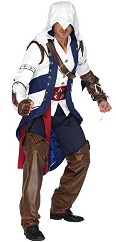[GTH Men's Assassins Creed Connor Action Games Theme Fancy Dress Costume, X-Large (46-50)] (Assassin Creed Movie Costume)