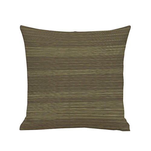 POCCIOL Geometric line Plain Dyed Cotton Linen Solid Color Home Decor Throw Pillow Case (A)