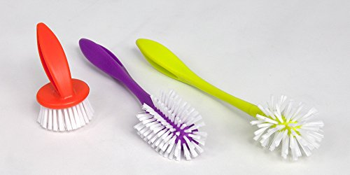 Large Product Image of Casabella Loop 3-Piece Dish Brush Set