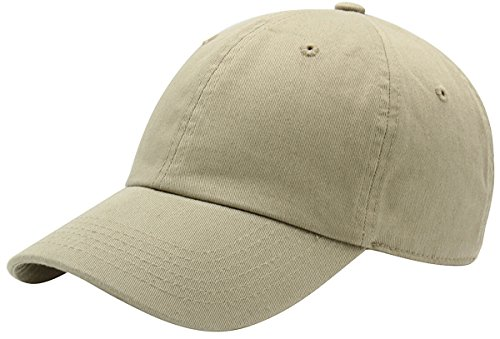 (AZTRONA Baseball Cap for Men Women - 100% Cotton Classic Dad Hat, KHK Khaki)
