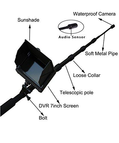 Amazon Com 5m Retractable Pole Inspection Camera Telescoping Pole