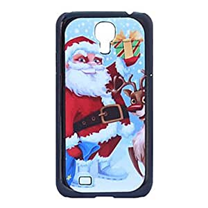 HP Father Christmas Deer Grind Arenaceous Plastic Back Case for Samsung Galaxy S4 I9500