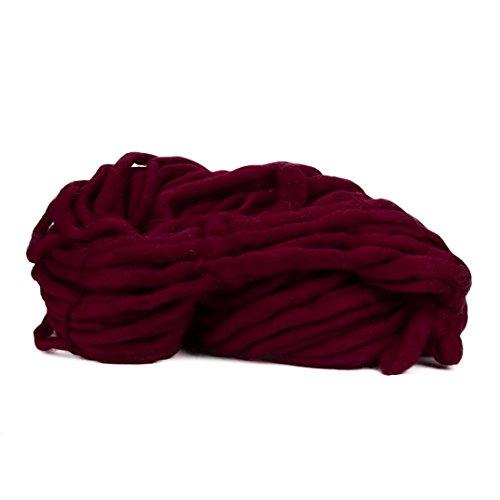 knitting wool yarn Vibola Hand Knitting Blanket Hats Super Thick Chunky Yarn Roving Bulky Yarn 250g per lot (I-Red)