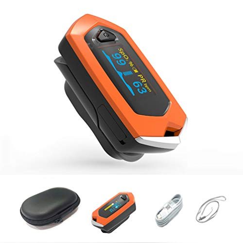 Automatic Rechargeable Blood Saturation with OLED Display for Outdoor Sport Home