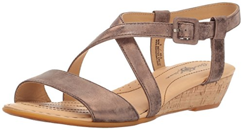 Born Women's Yelena - Crown Collection T Moro (Dark Brown) Metallic Sandal 9 M (B) by Born