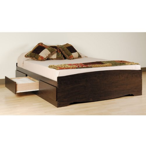 Double - Full Platform Storage Bed with 6 drawers (Espresso) (18.75