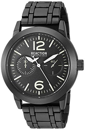 Kenneth Cole REACTION Men's Sport Japanese-Quartz Watch with Copper Strap, Black, 22 (Model: RK50903001)