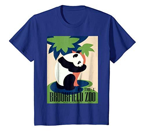 Kids Vintage poster - Brookfield Zoo Retro T-Shirt 10 Royal Blue -