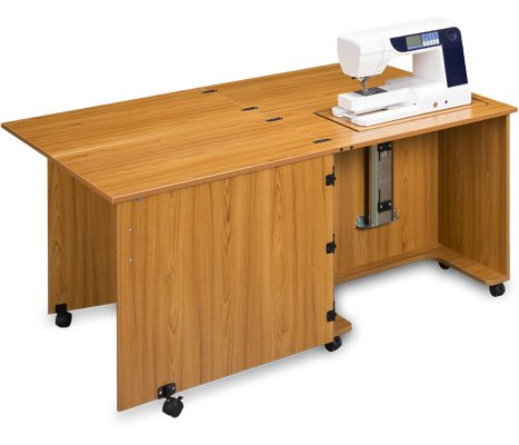 Sylvia Design Model 810Q Quilters Sewing Cabinet (Teak)
