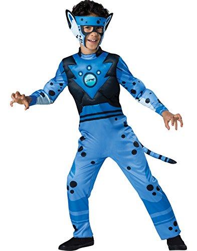 Quality Wild Kratts Child Costume Blue Cheetah - (Wild Kratt Costume)