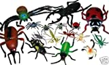 16pc Cool Insects Large and Small Ants Spiders, Beetles Scorpions