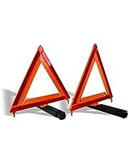 """Mikel's TR-17 Triángulos Reflejantes con Bolsa de Vinil 17"""" (1 Par)"""