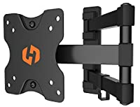 "Husky Mounts Most 17 19 20 22 24 27 Inch Full Motion TV Wall Mount Articulating Movable Monitor Bracket up to VESA 100X100, 44 Lbs. Fits Some Larger LED LCD Flat Screen with 4""x4"" Holes(100x100)"