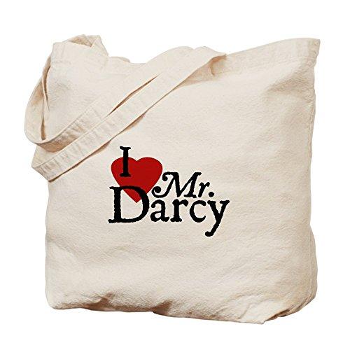 CafePress Jane Austen Heart Darcy - Natural Canvas Tote B...