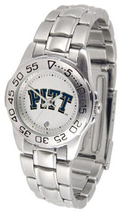 - NCAA Pittsburgh Panthers Ladies Game Day Sports Watch with Stainless Steel Band