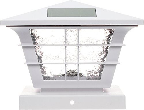 GreenLighting 5x5 Solar Post Cap Light with 4x4 Base Adapter (White, 12 Pack) by GreenLighting (Image #1)