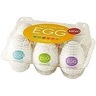 Tenga Easy Beat EGG 6-Color Package Variety Mens Portable Pleasure Device 6-Pack, EGG-VP6(1)