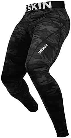 DRSKIN Men's Compression Warm Dry Cool Sports Tights Pants Baselayer Running Leggings Yoga
