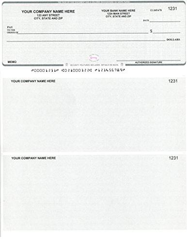 Quickbooks / Quicken Checks - 250 Printed Computer Laser Checks - Check on Top - Linen Gray