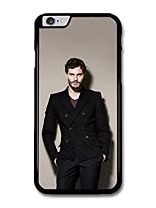 "AMAF ? Accessories Christian Grey Jamie Dornan Posing Black Coat case for iPhone 6 Plus (5.5"")"