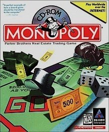 CD-ROM Monopoly for Windows, Parker Brothers  Real Estate Trading Game for Computer, Product #44036